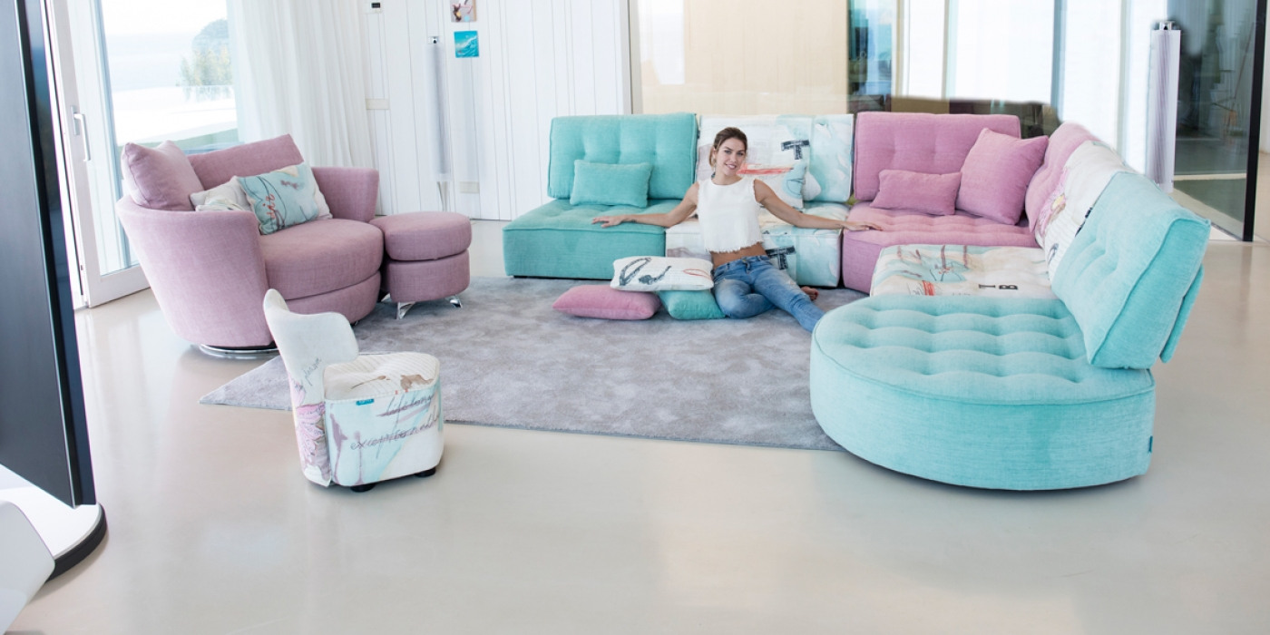 Fama Arianne Love Low Seating Vibrant Fabrics Dublin